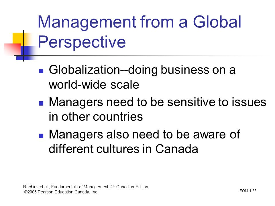 Management from a Global Perspective