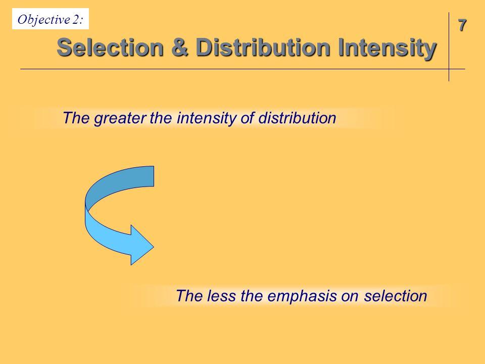 Selection & Distribution Intensity