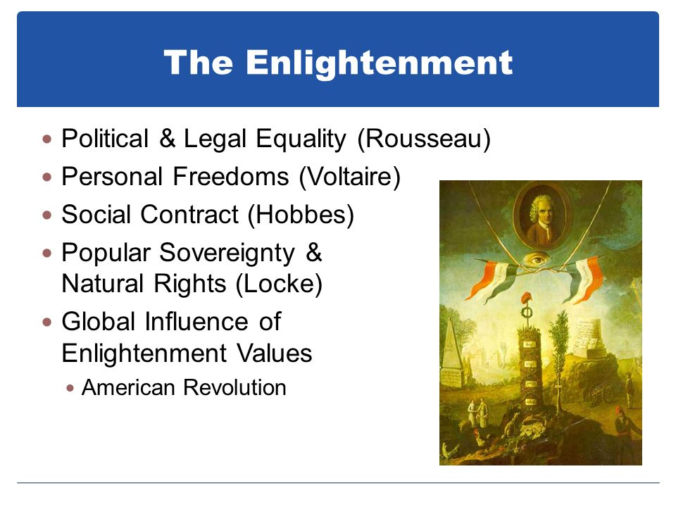 The Enlightenment Political & Legal Equality (Rousseau)