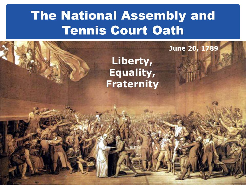 The National Assembly and Tennis Court Oath
