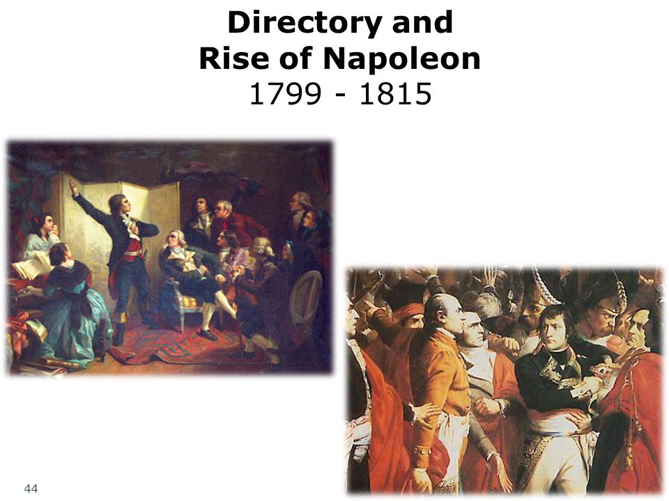 Directory and Rise of Napoleon