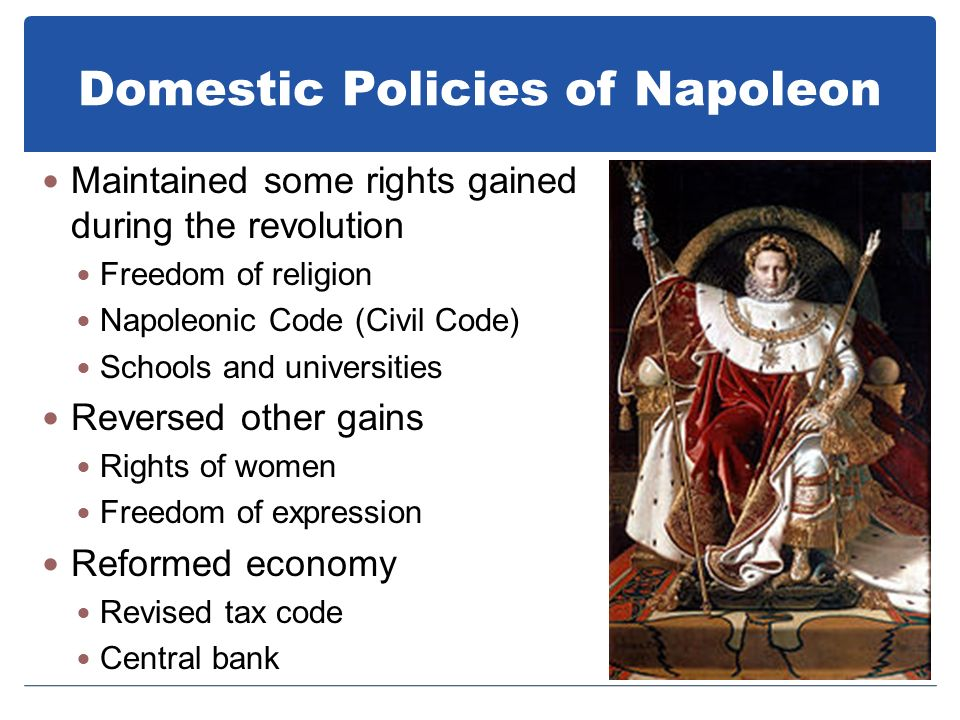 What Were Some of Napoleon's Domestic Policies in France?