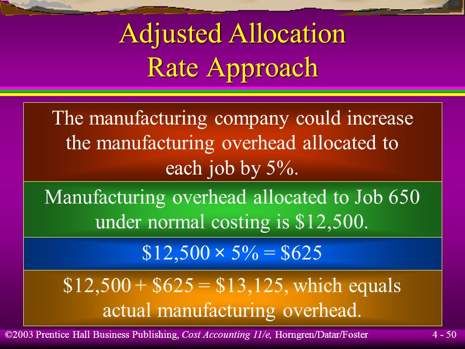 Adjusted Allocation Rate Approach