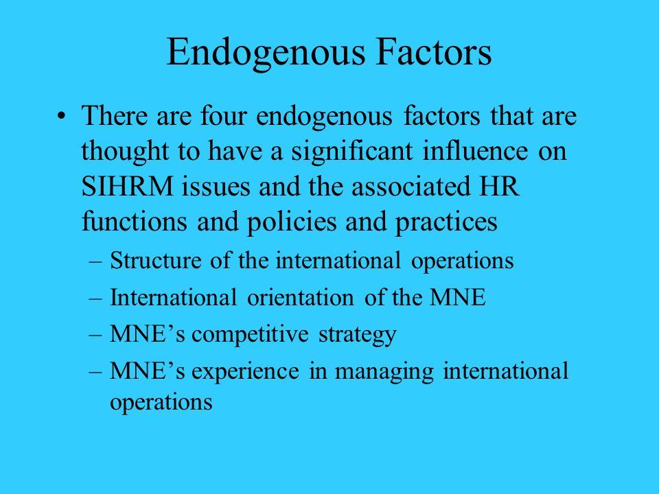 Endogenous Factors