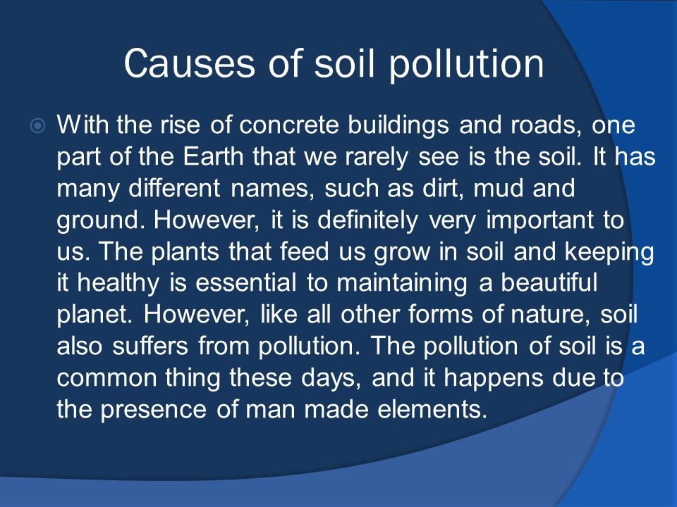 the important elements in soil and land management Chapter 42 soil management and  and accumulation of salts and trace elements  land and soil quality is not only important to agriculture but also to.