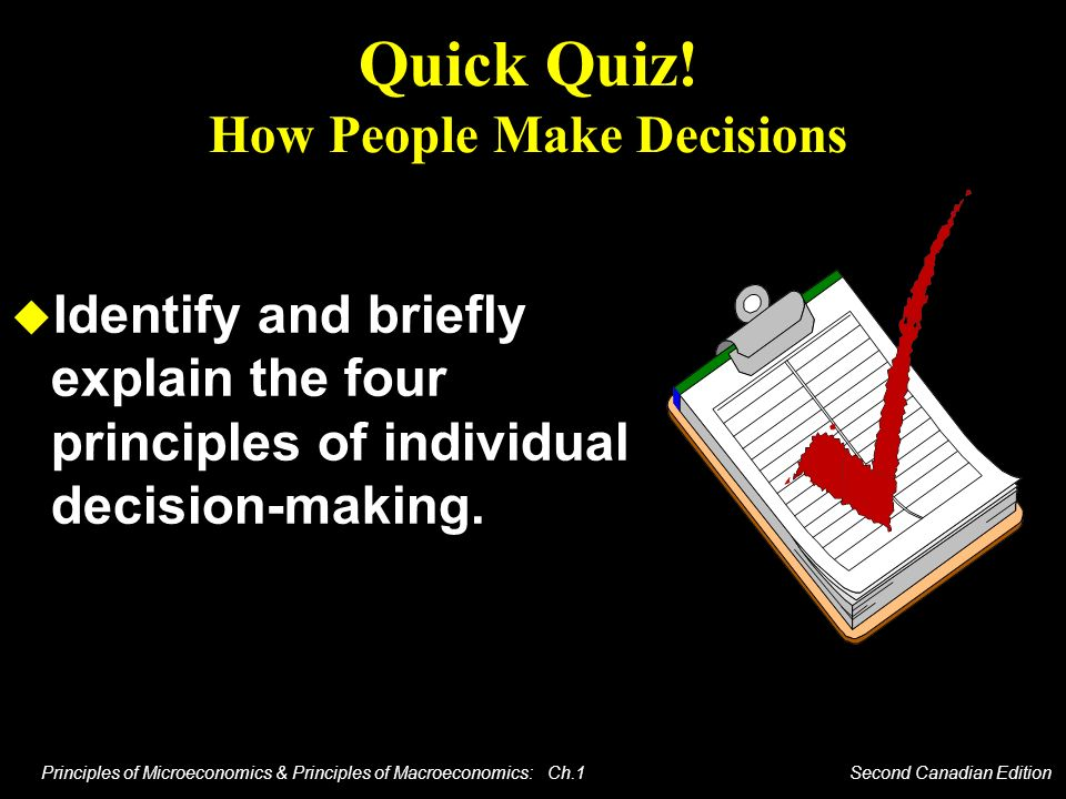 Quick Quiz! How People Make Decisions