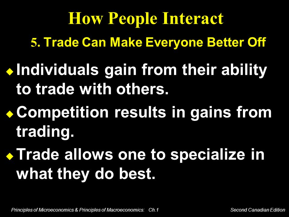 How People Interact 5. Trade Can Make Everyone Better Off