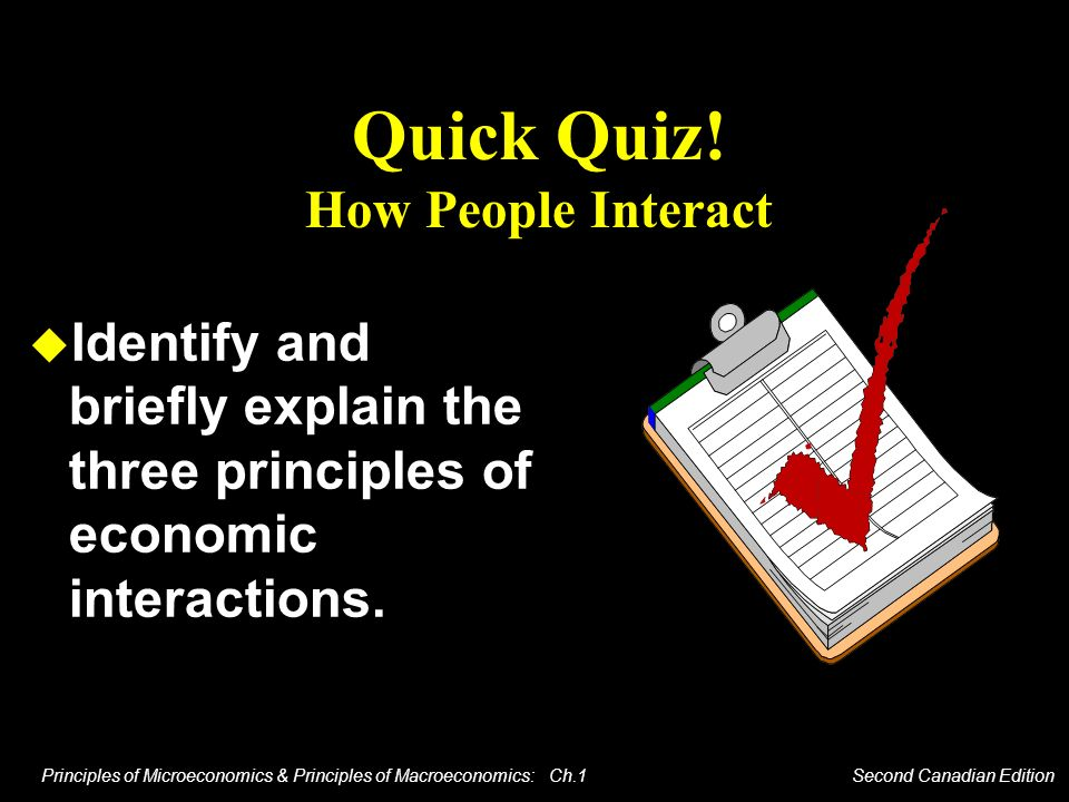 Quick Quiz! How People Interact