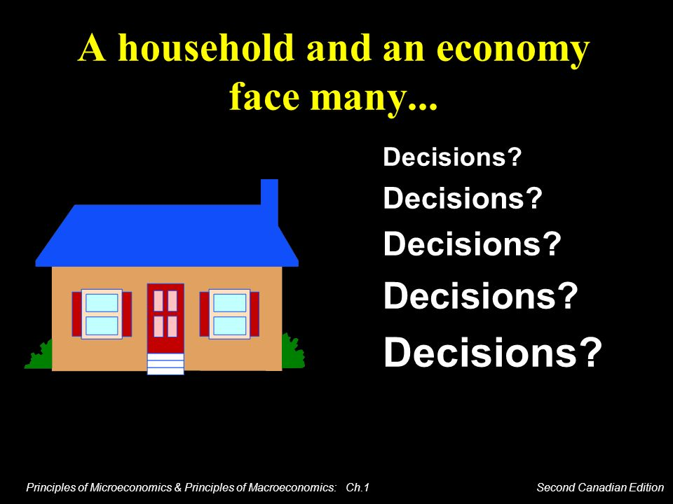 A household and an economy face many...