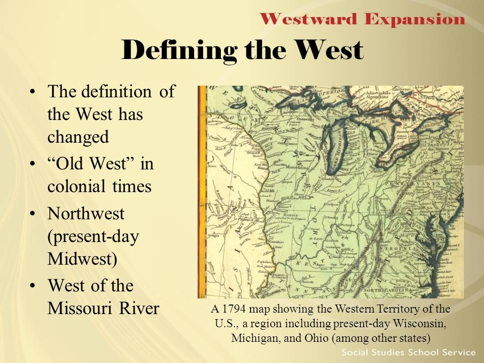 Although People Had Begun To Move Westward Almost From The - Detailed map of us during westward expansion