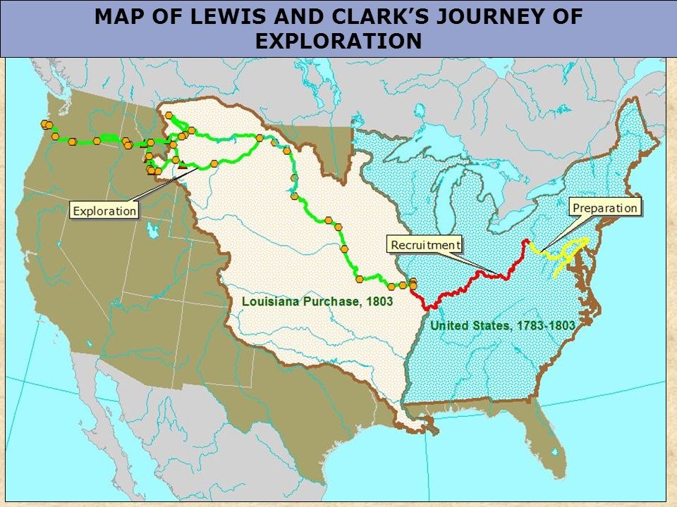 5 map of lewis and clark s journey of exploration