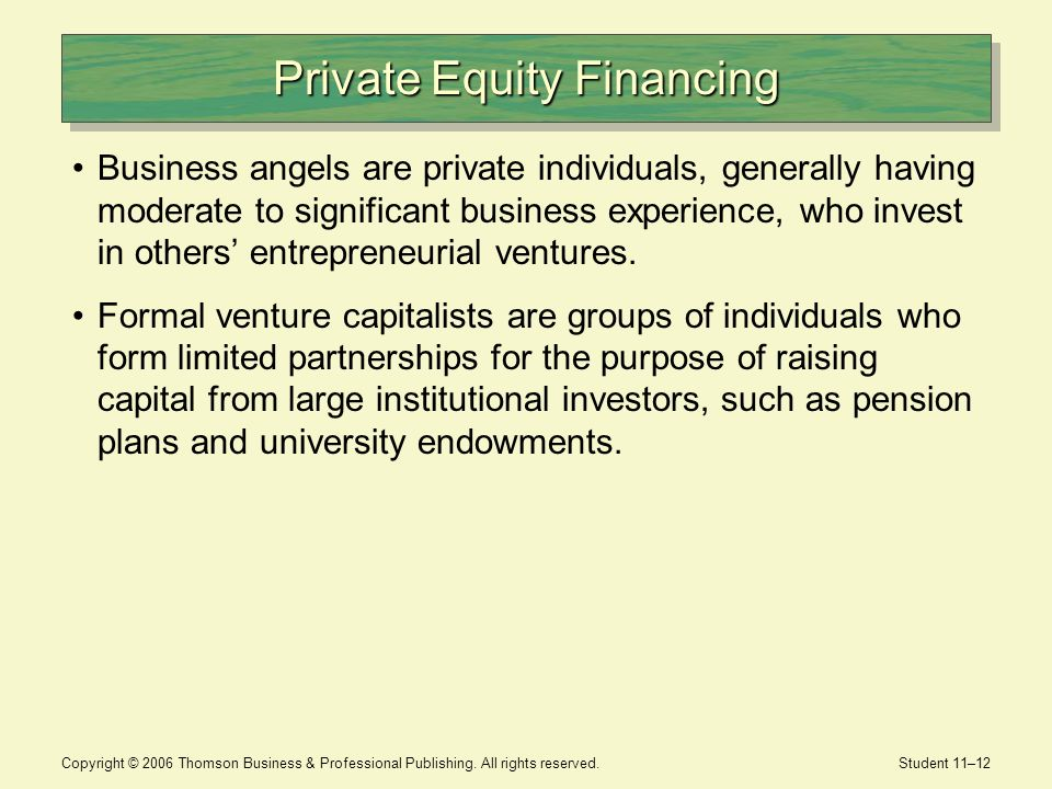 entrepreneurial finance and private equity essay Fina 6260 - entrepreneurial finance, innovation valuation, and private equity  300  supply chain management  northeastern university logo.