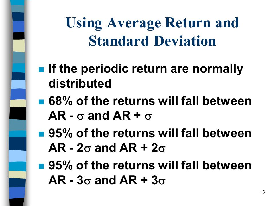 Using Average Return and Standard Deviation