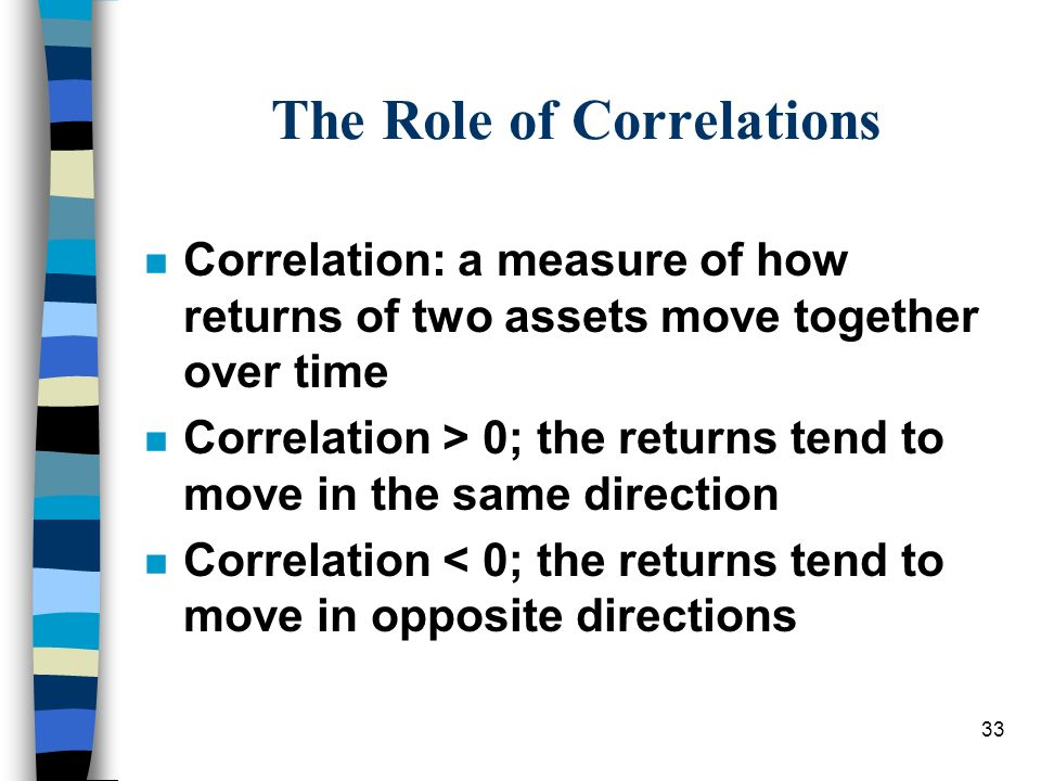 The Role of Correlations