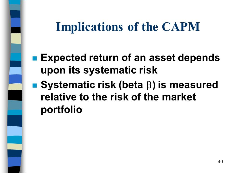 Implications of the CAPM