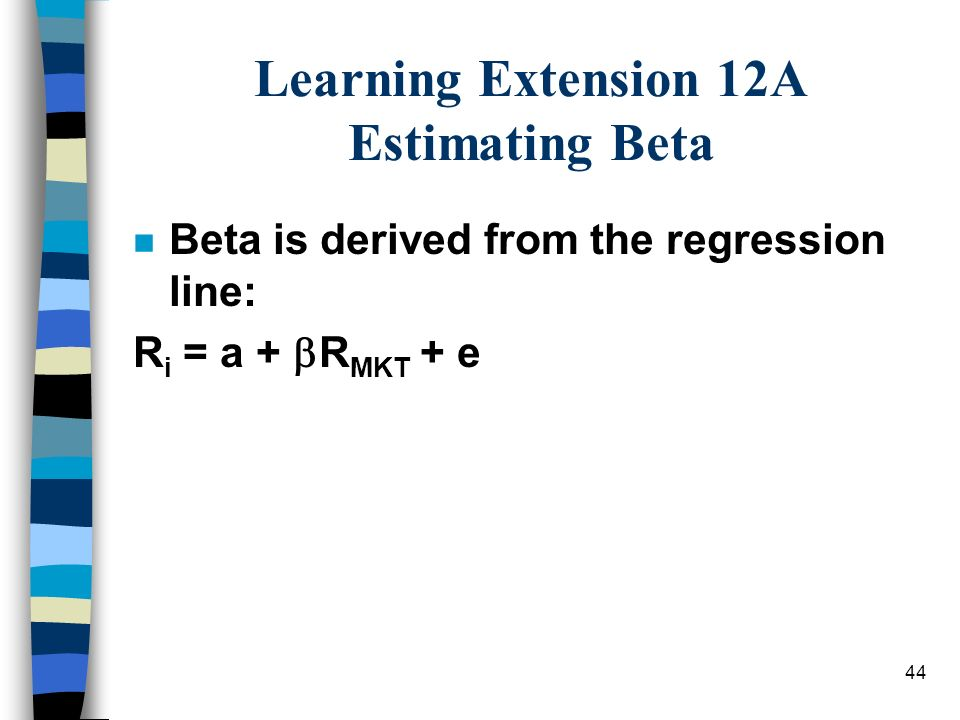 Learning Extension 12A Estimating Beta