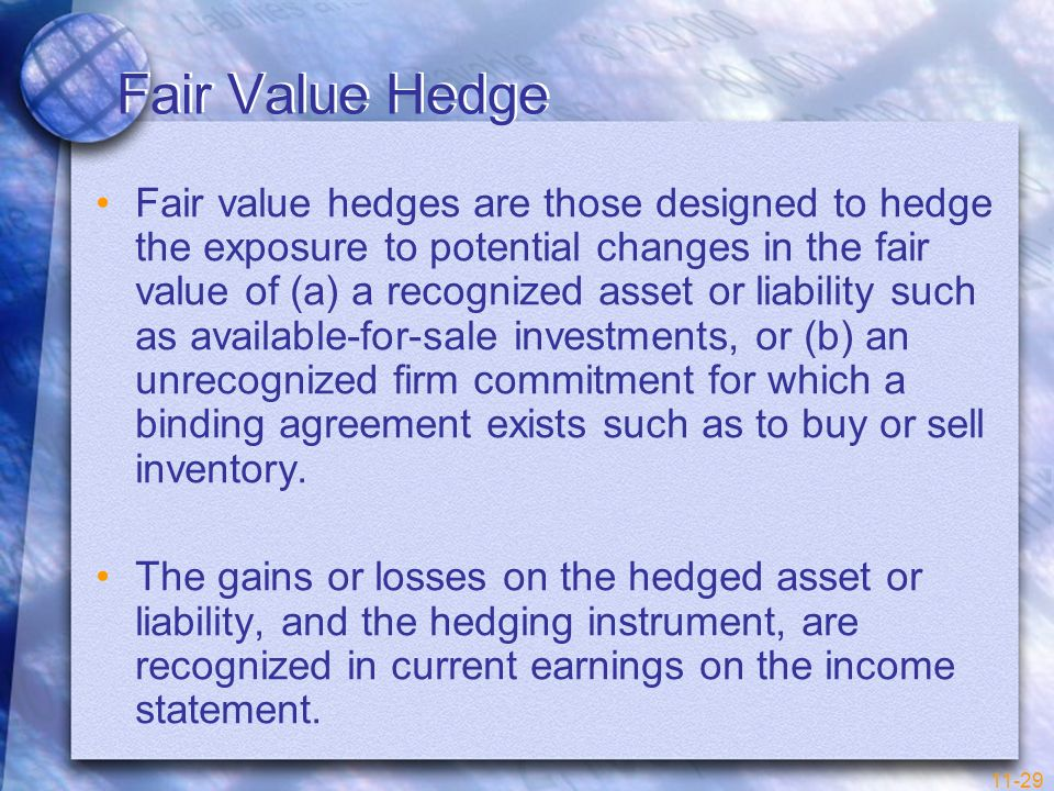 Fair Value Hedge