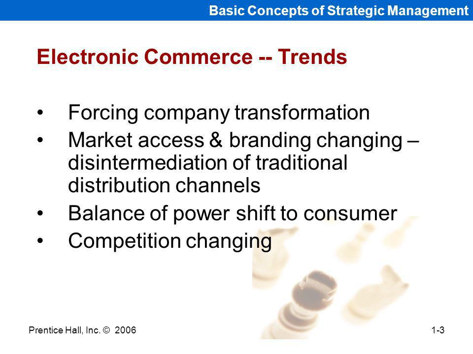 Electronic Commerce -- Trends Forcing company transformation