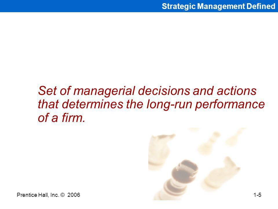Strategic Management Defined