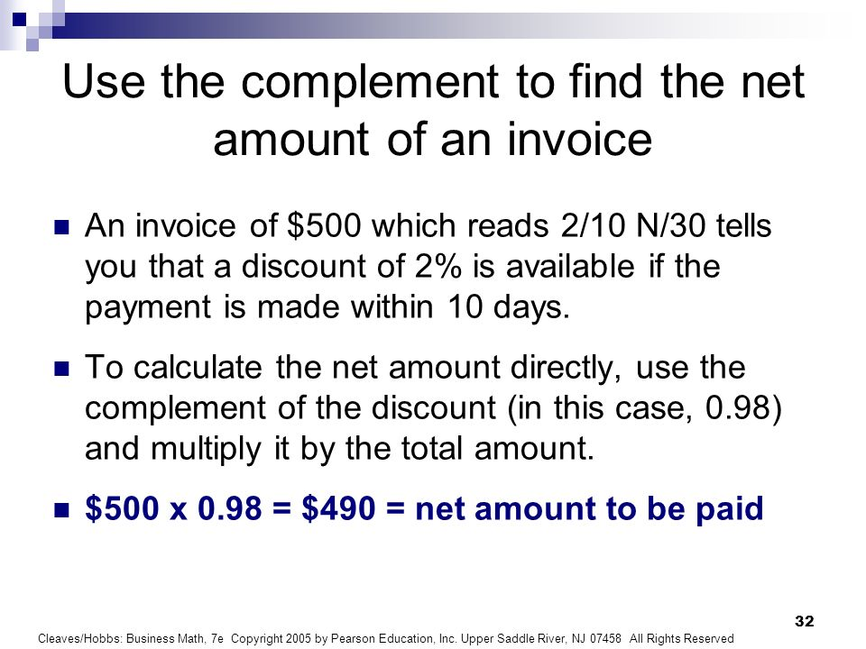 Net Invoice Amount