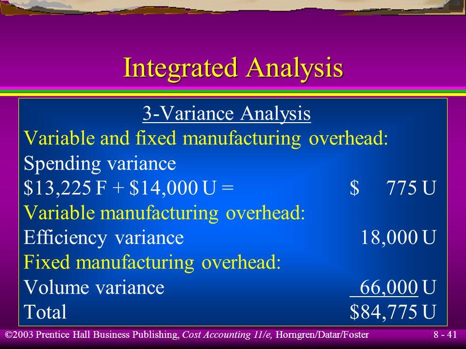 Integrated Analysis 3-Variance Analysis