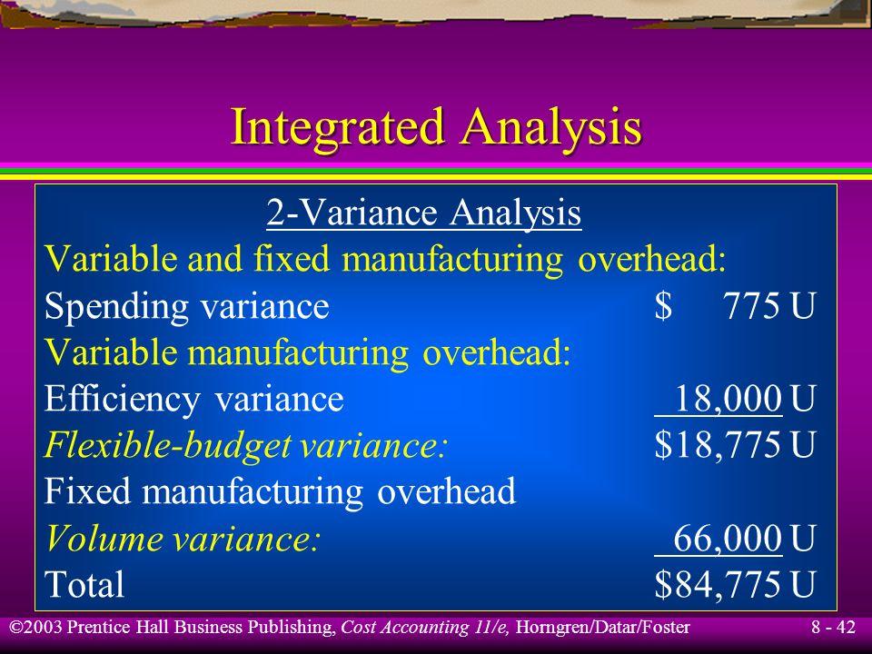 Integrated Analysis 2-Variance Analysis