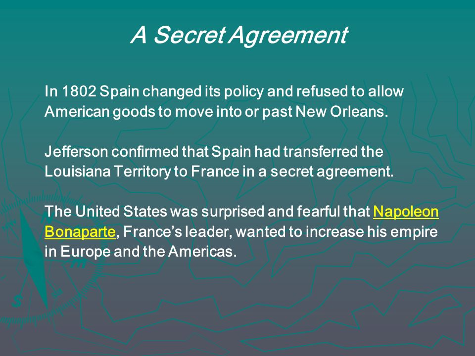 A Secret Agreement