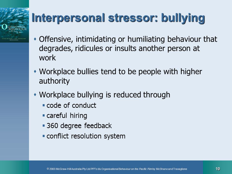 Interpersonal stressor: bullying