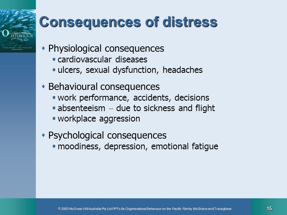 Consequences of distress