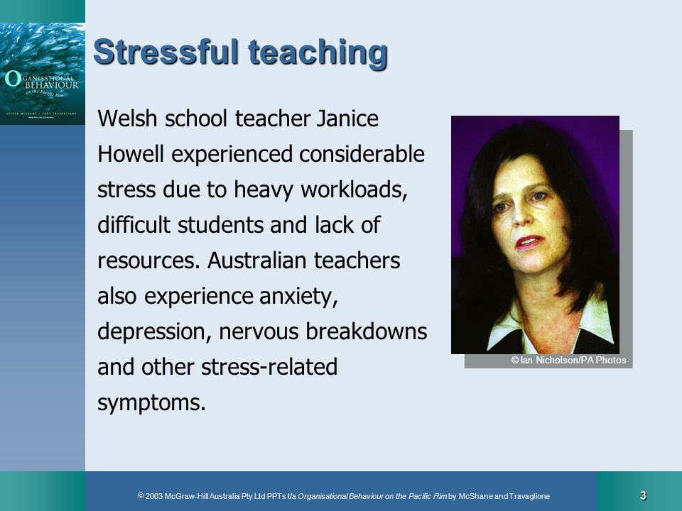 Stressful teaching