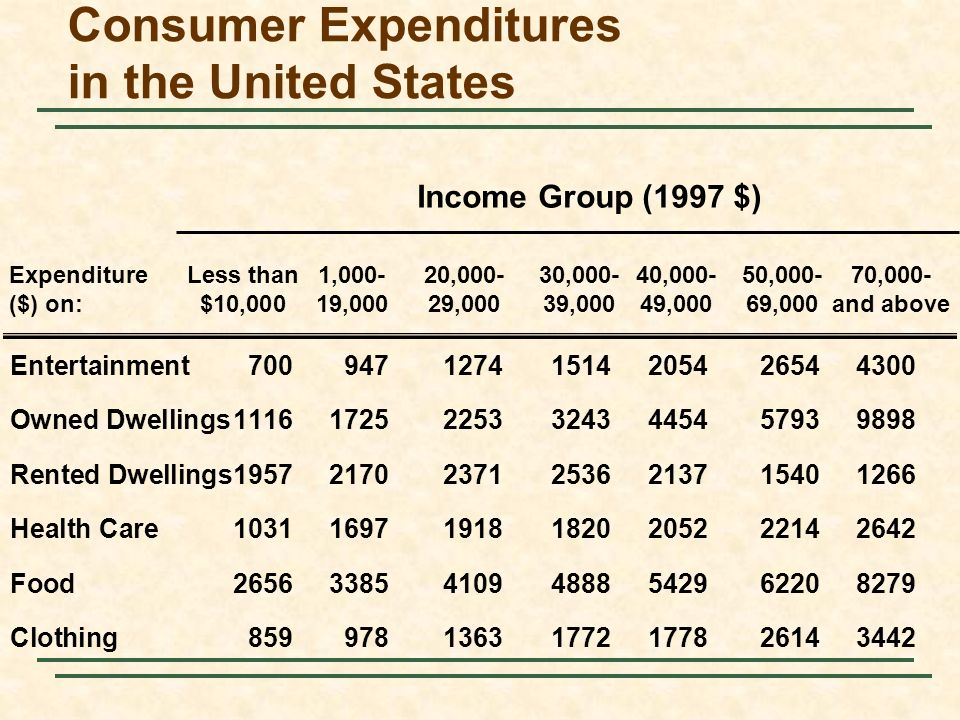 Consumer Expenditures in the United States