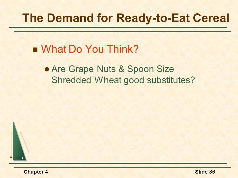 The Demand for Ready-to-Eat Cereal