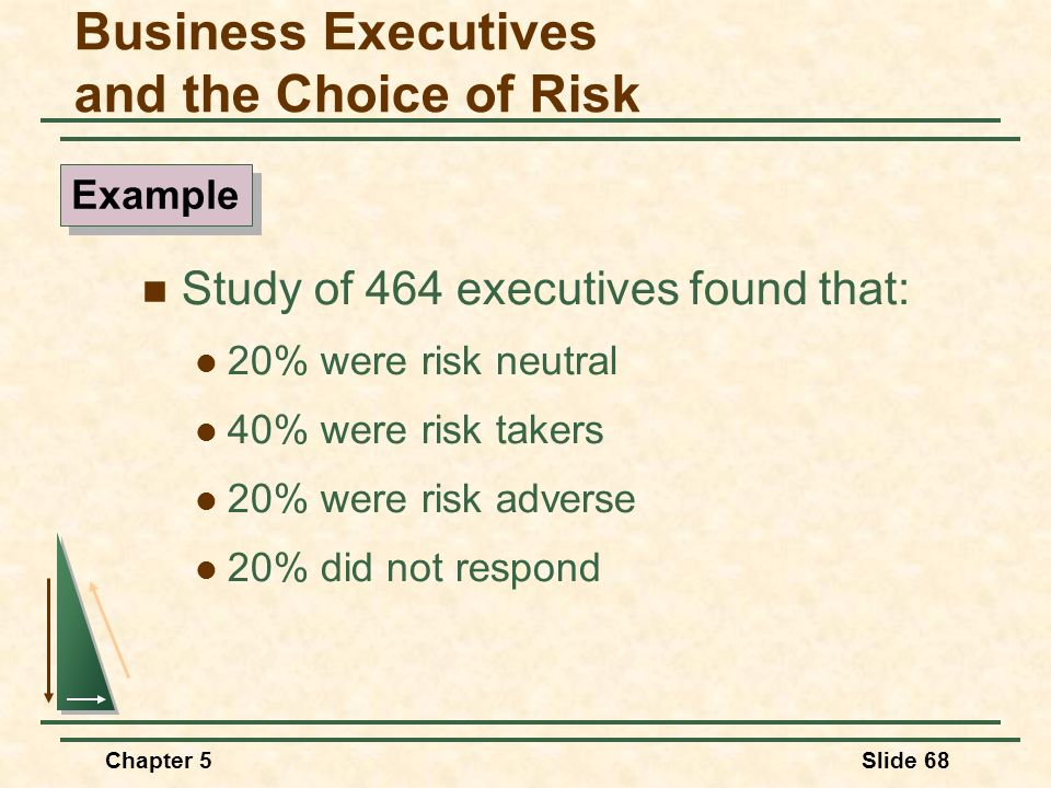 Business Executives and the Choice of Risk
