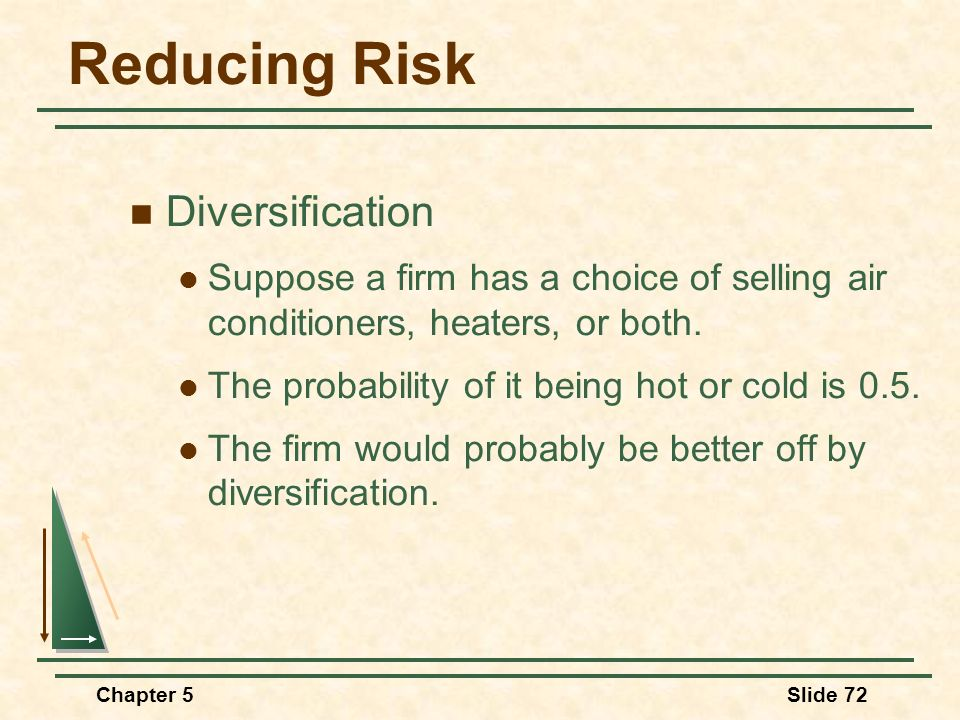 Reducing Risk Diversification