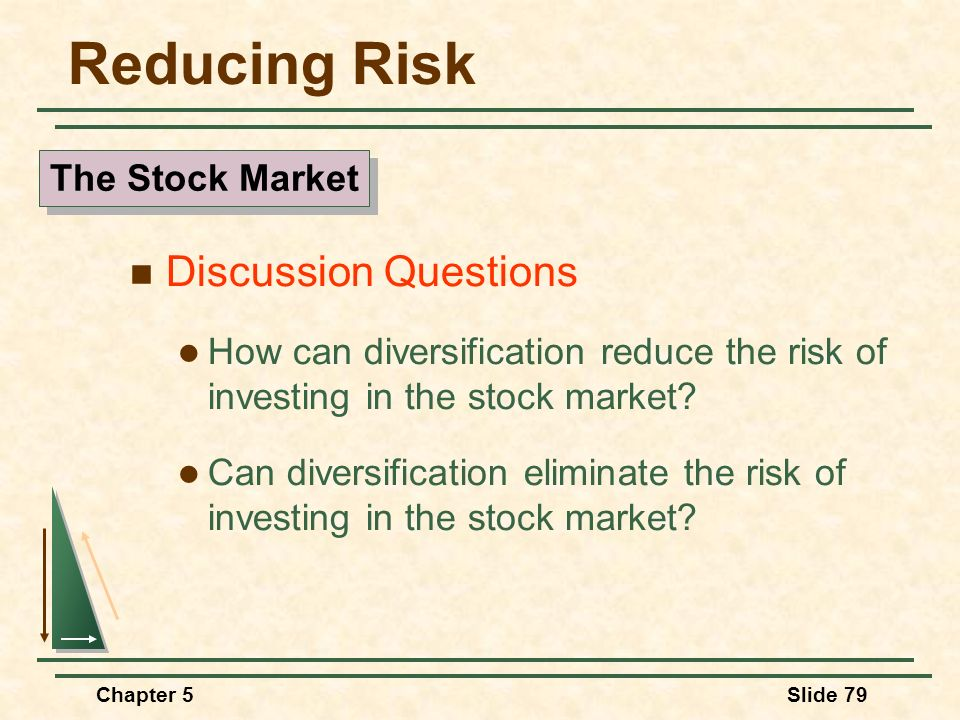Reducing Risk Discussion Questions The Stock Market