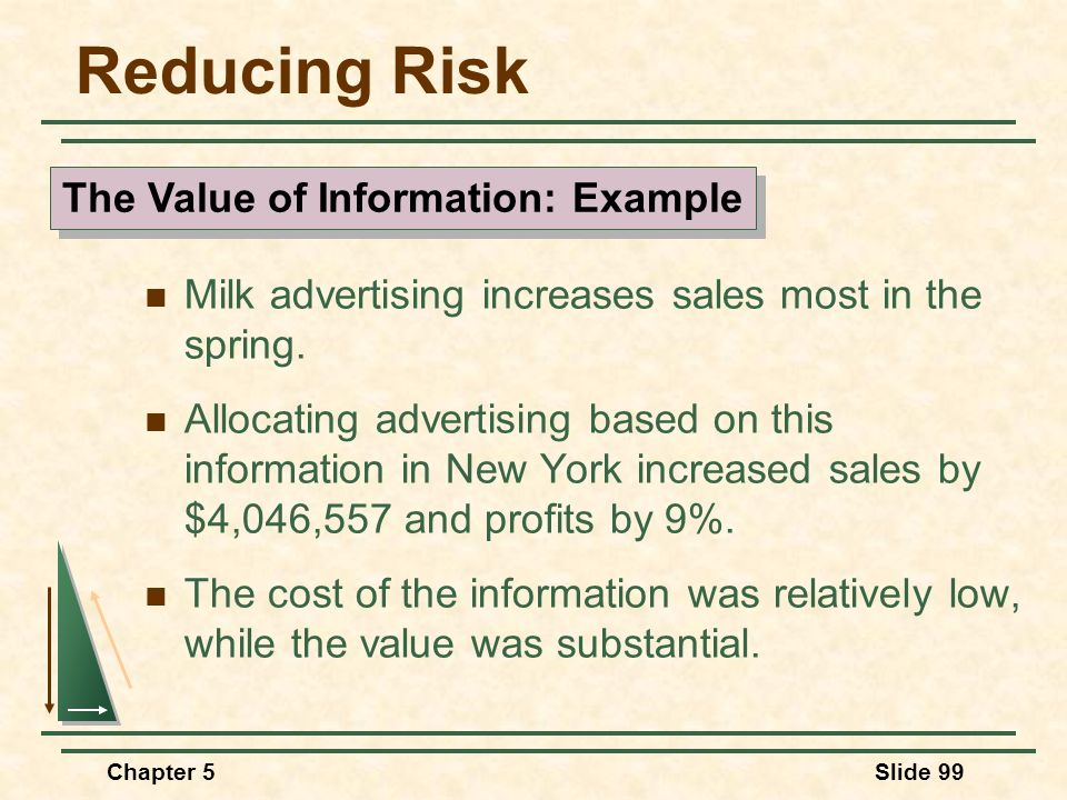 The Value of Information: Example