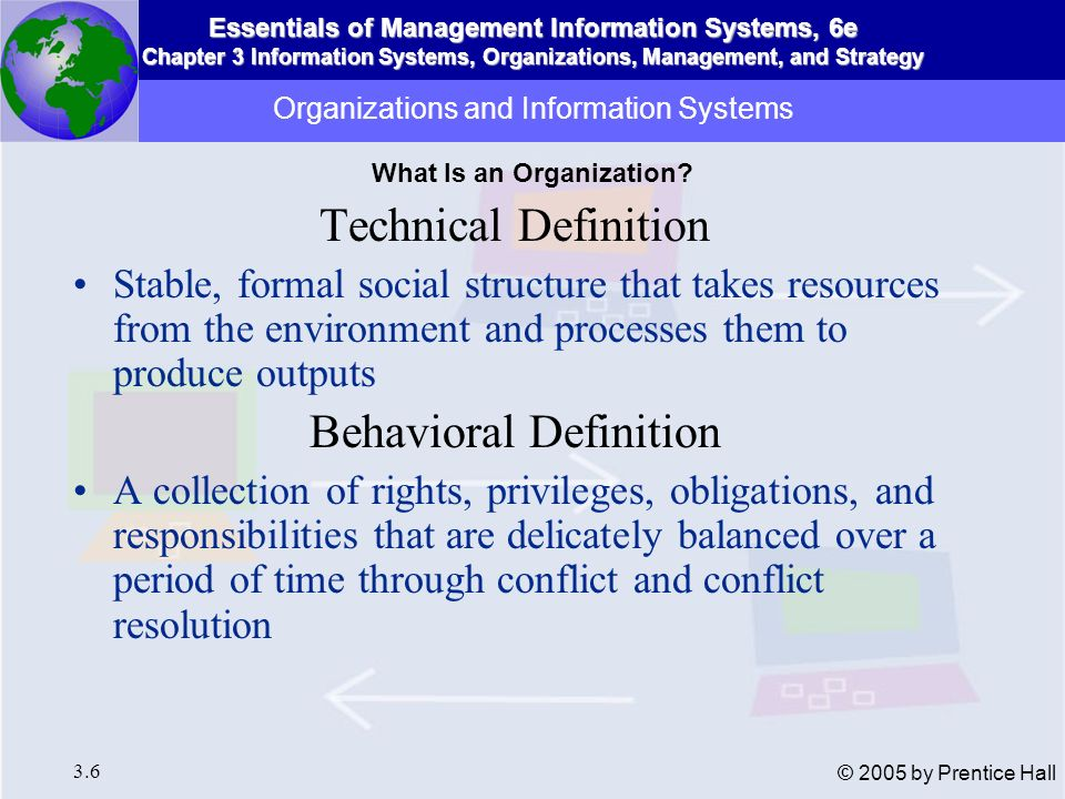 Organizations and Information Systems