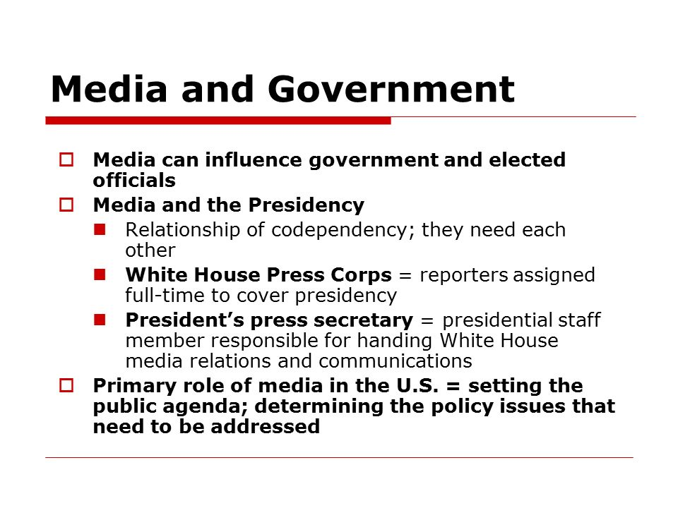 media and the government relationship