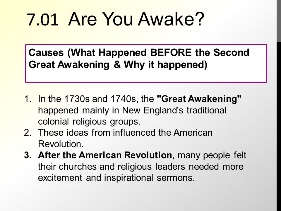 is the great awakening a rehearsal to the american revolution In which john green teaches you about the beginnings of the american revolution in a video titled the seven years war confusing maybe john argues that the seven years war, which is often called.