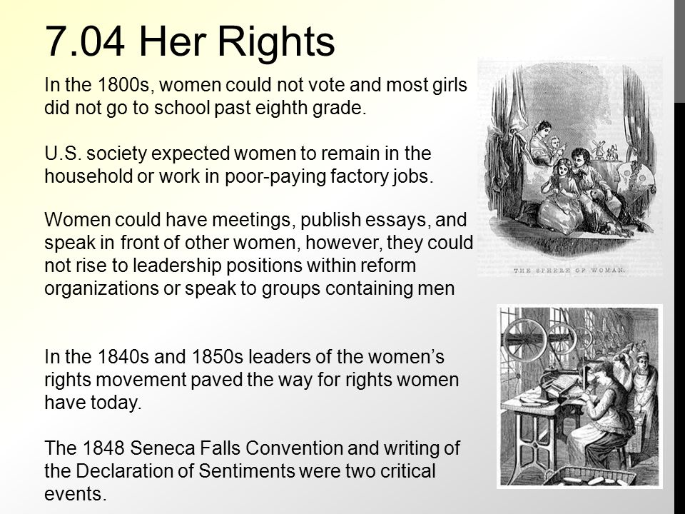 right of women essay Women's rights essays: over 180,000 women's rights essays, women's rights term papers, women's rights research paper, book reports 184 990 essays, term and research papers available for unlimited access.