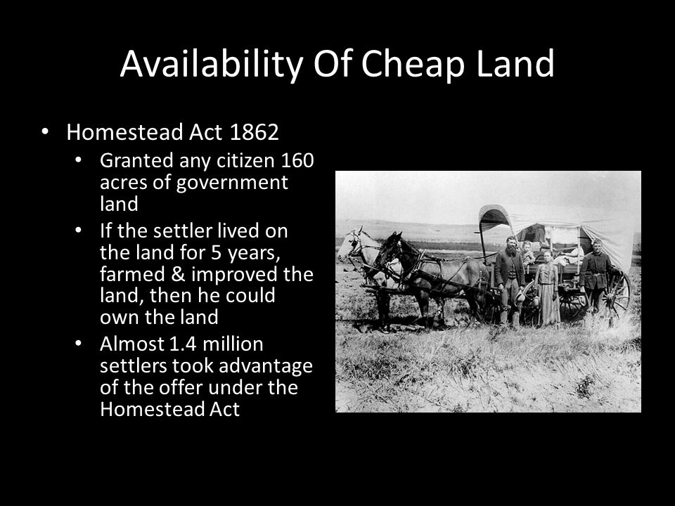 The last american frontier ppt video online download for Where to buy cheap land for homesteading