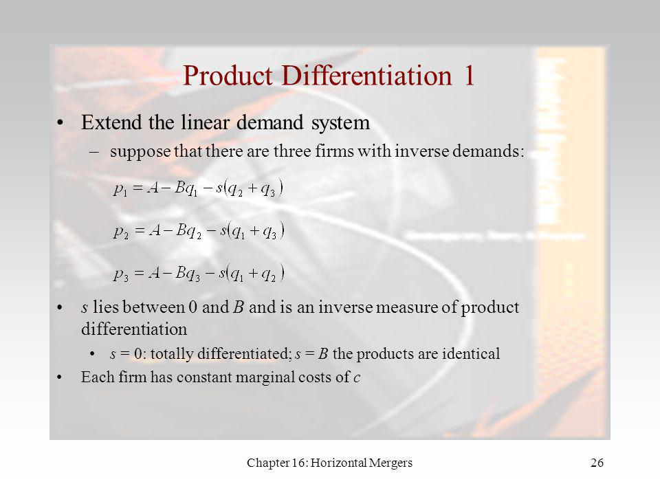 Product Differentiation 1
