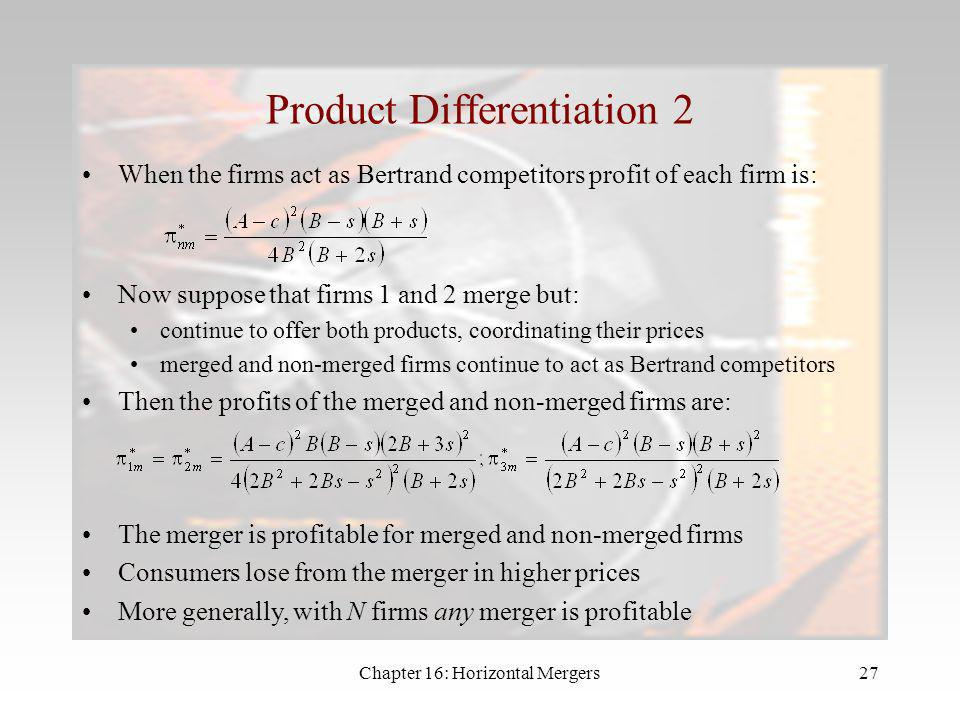 Product Differentiation 2