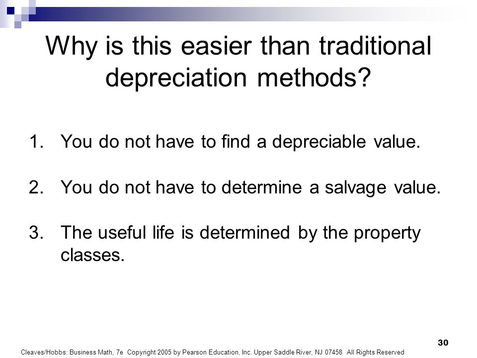 Why is this easier than traditional depreciation methods