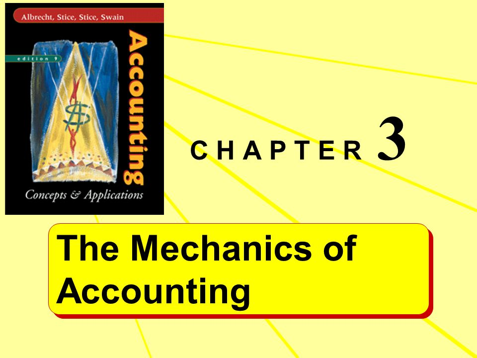3 C H A P T E R The Mechanics of Accounting