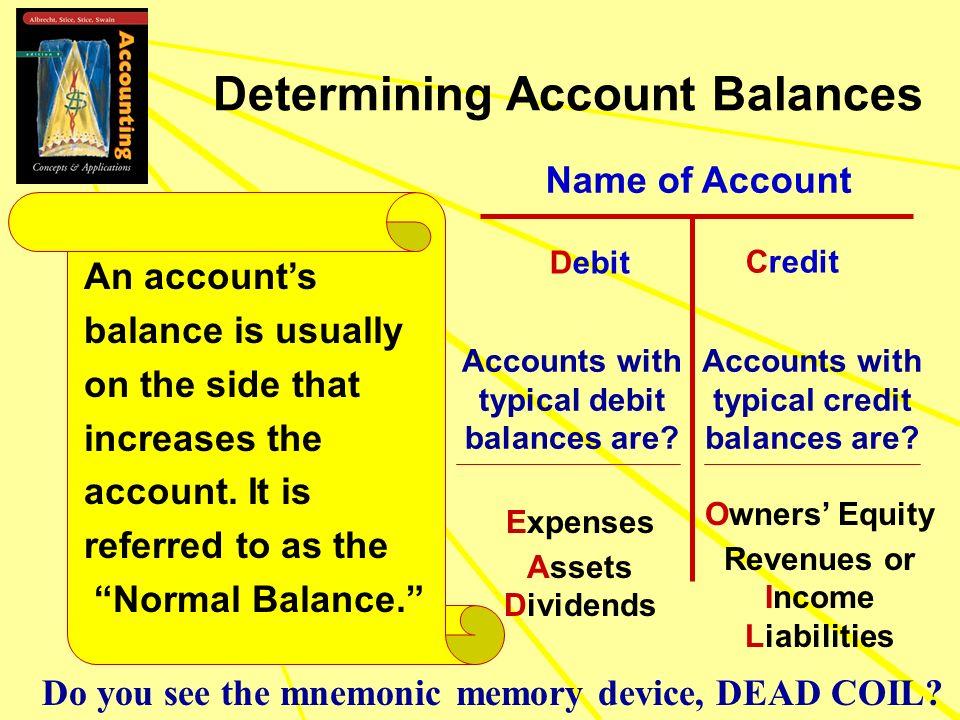Determining Account Balances