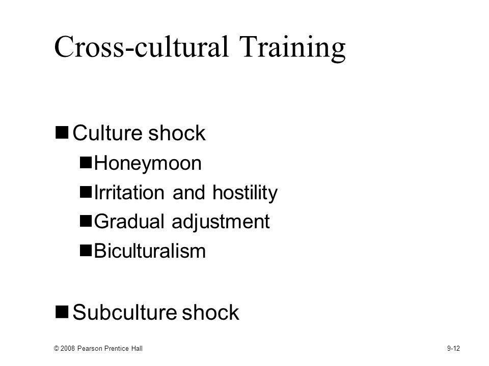 Cross-cultural Training