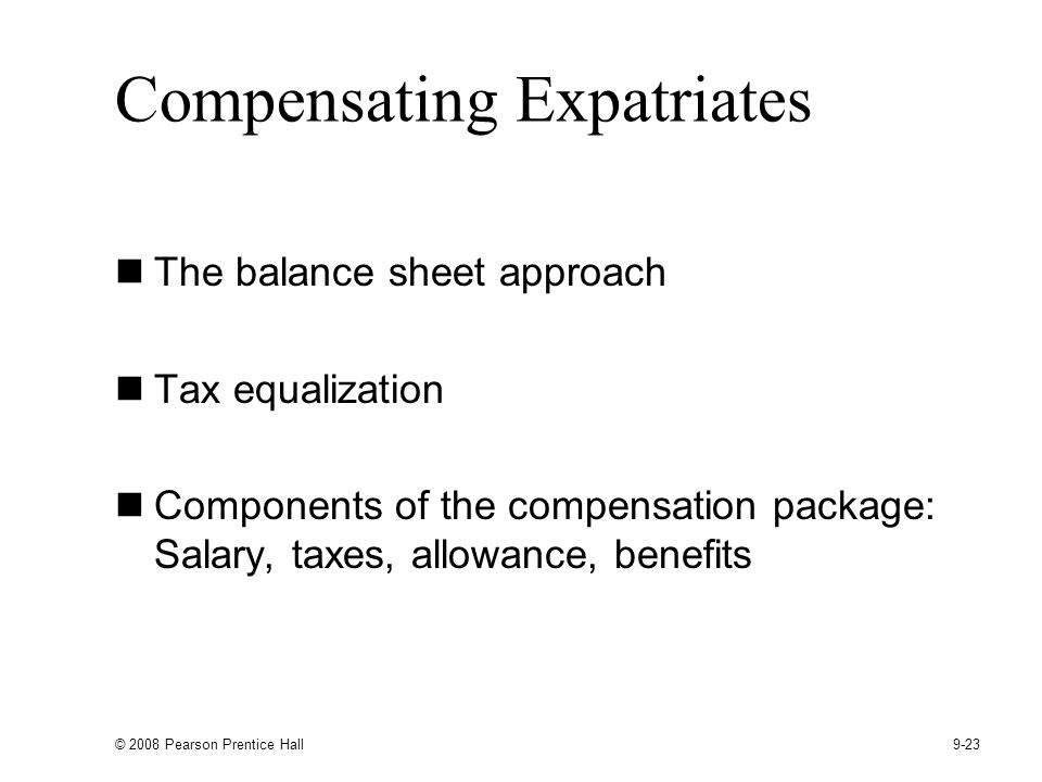 Compensating Expatriates