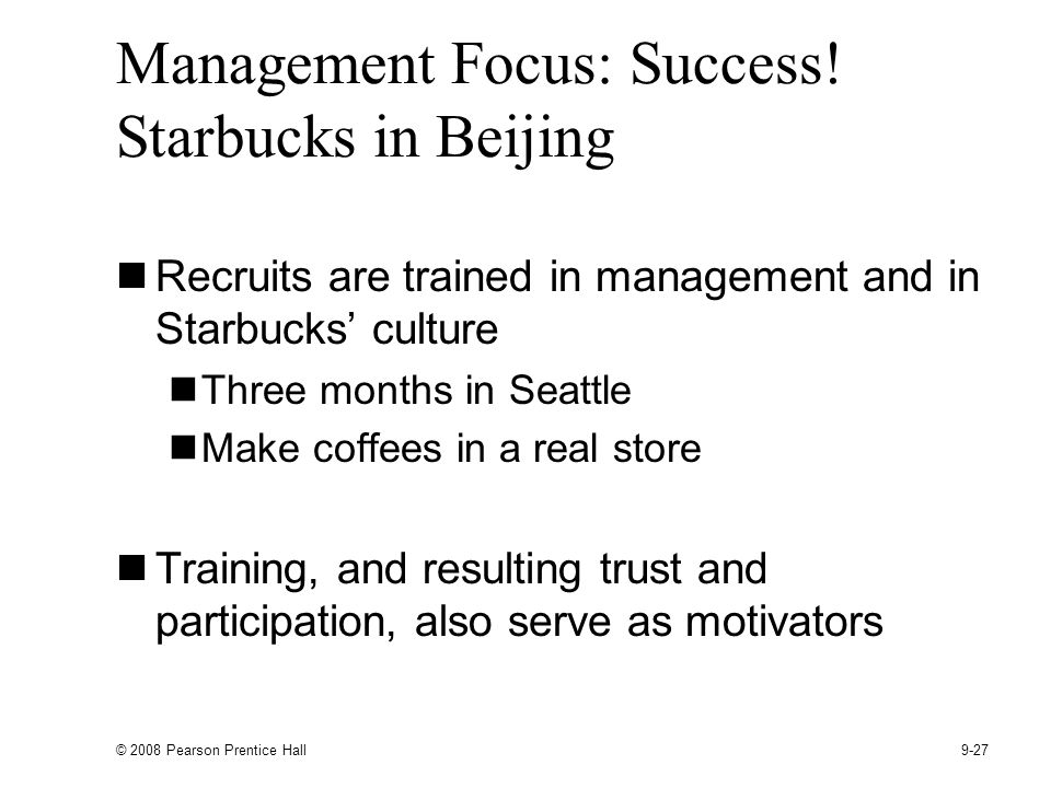 Management Focus: Success! Starbucks in Beijing
