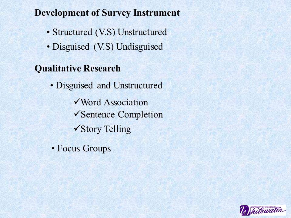 Development of Survey Instrument